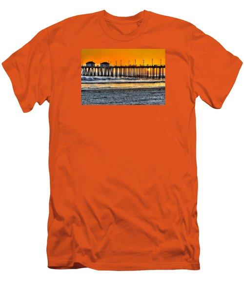 Huntington Beach Sunset Men's T-Shirt (Slim Fit) by Jim Carrell