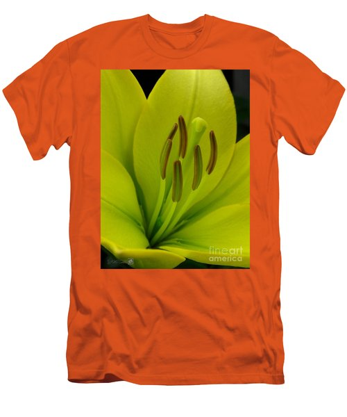 Men's T-Shirt (Slim Fit) featuring the photograph Hybrid Lily Named Trebbiano by J McCombie