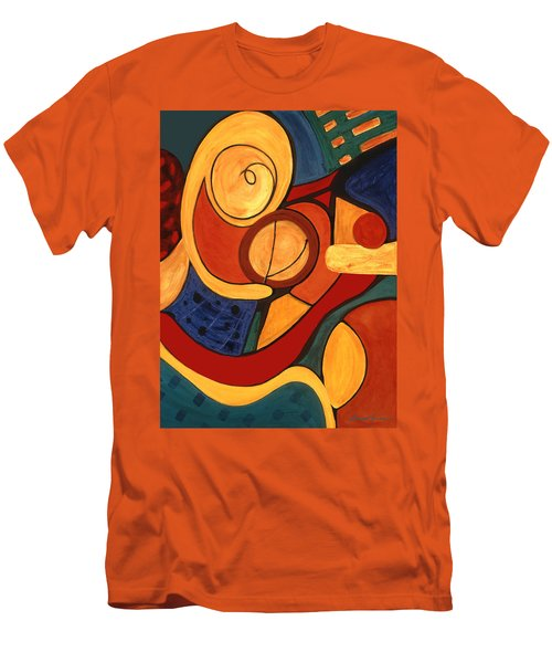 Men's T-Shirt (Slim Fit) featuring the painting Illuminatus 3 by Stephen Lucas