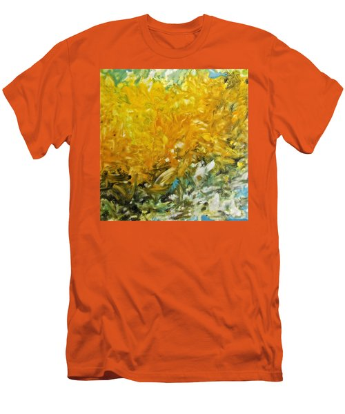 Men's T-Shirt (Slim Fit) featuring the painting In My Magic Garden by Joan Reese