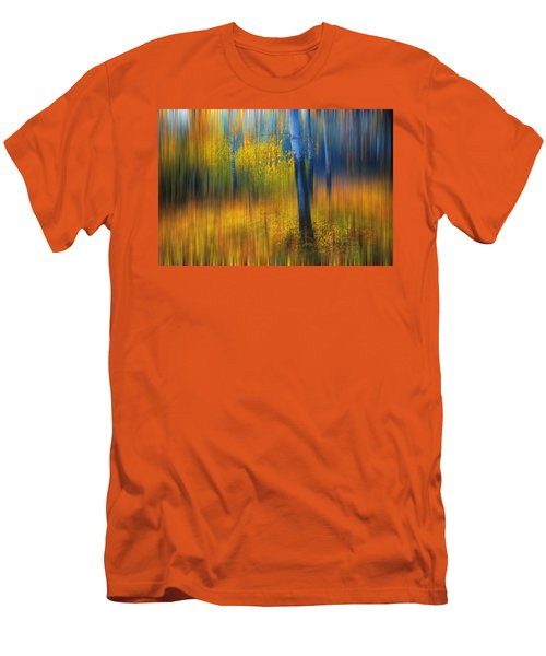 In The Golden Woods. Impressionism Men's T-Shirt (Slim Fit) by Jenny Rainbow