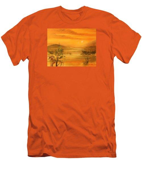 Intense Orange Men's T-Shirt (Slim Fit) by Remegio Onia