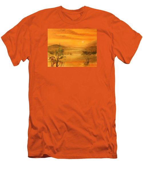 Intense Orange Men's T-Shirt (Athletic Fit)