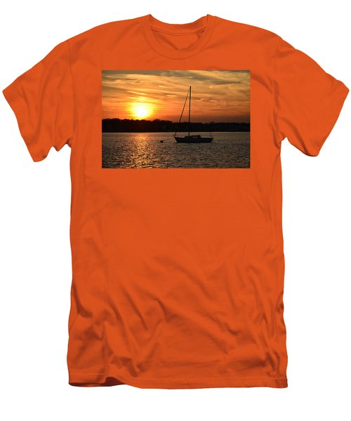 Men's T-Shirt (Slim Fit) featuring the photograph Island Heights Sunset by Brian Hughes