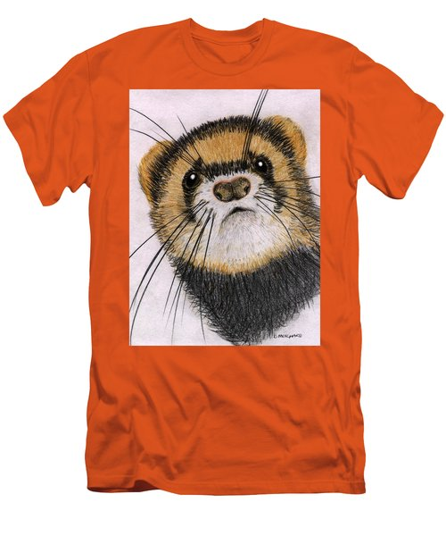 Men's T-Shirt (Slim Fit) featuring the drawing Jasper by Barbara Moignard