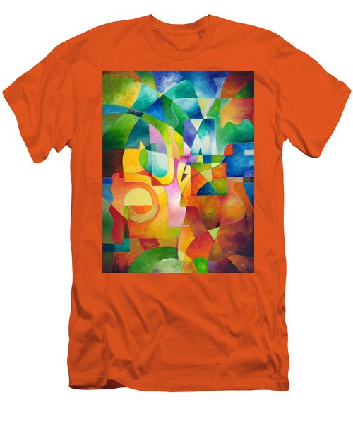 Just Outside Men's T-Shirt (Slim Fit) by Sally Trace