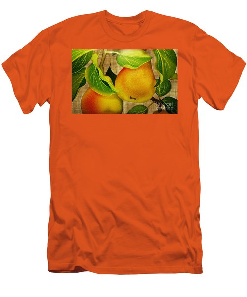 Men's T-Shirt (Slim Fit) featuring the photograph Just Pears by Judy Palkimas