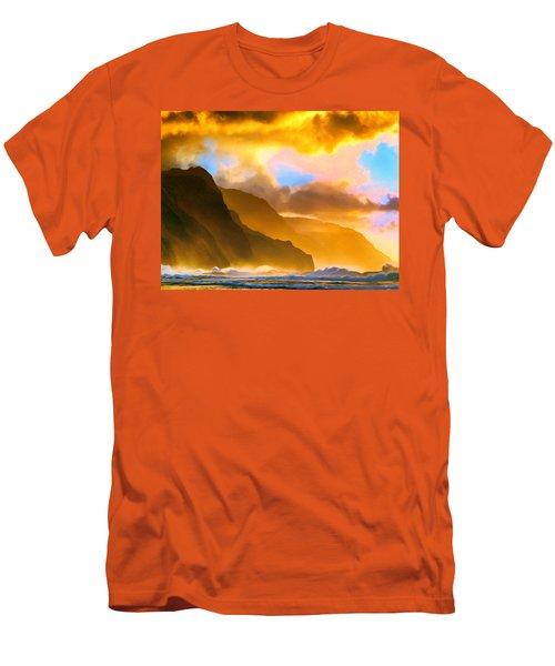 Ke'e Beach Sunset Men's T-Shirt (Athletic Fit)