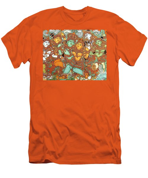 Kerala Mural Painting Men's T-Shirt (Athletic Fit)