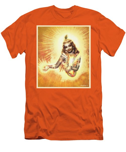 Krishna Vision In The Clouds Men's T-Shirt (Athletic Fit)