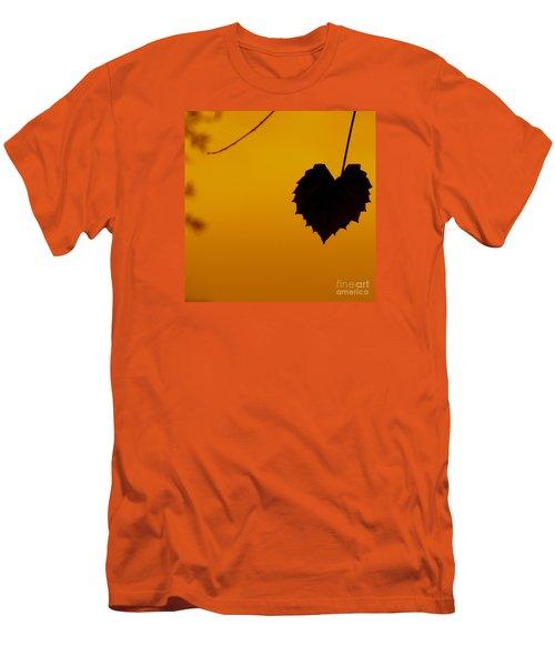 Last Leaf Silhouette Men's T-Shirt (Slim Fit) by Joy Hardee