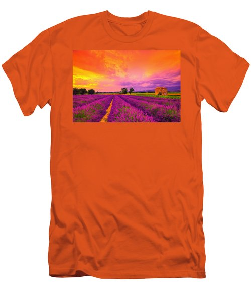 Lavender Sunset Men's T-Shirt (Slim Fit) by Midori Chan