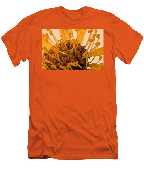 Men's T-Shirt (Slim Fit) featuring the photograph Leopards Bane Flower Macro by Sandra Foster