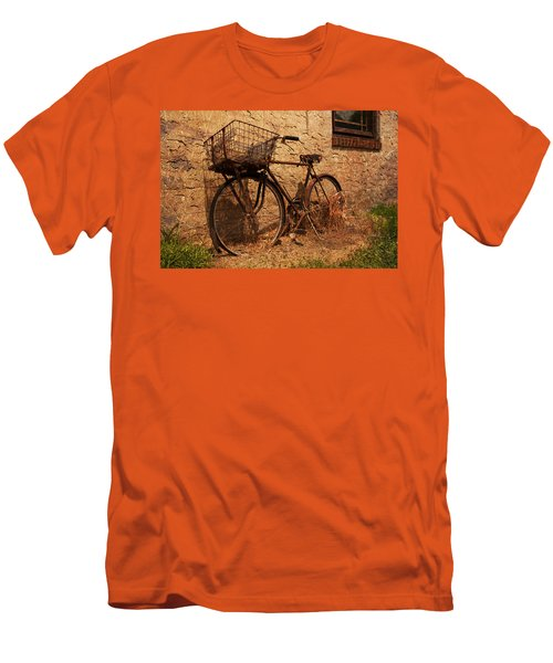 Let's Go Ride A Bike Men's T-Shirt (Slim Fit) by Michael Porchik