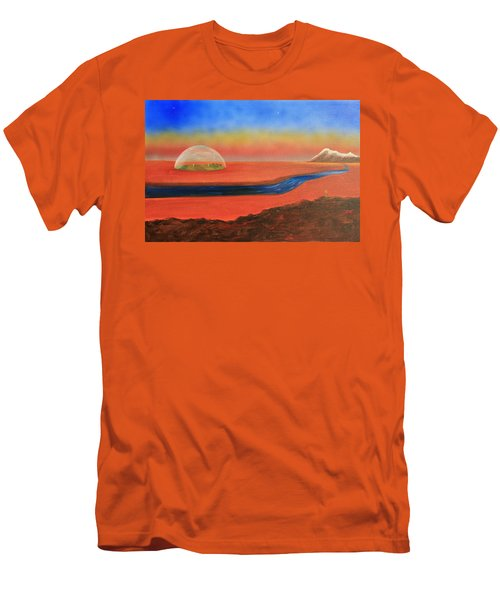 Men's T-Shirt (Slim Fit) featuring the painting Life Will Find A Way by Tim Mullaney