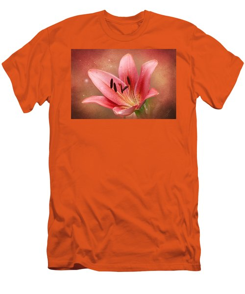 Men's T-Shirt (Slim Fit) featuring the photograph Lily by Ann Lauwers