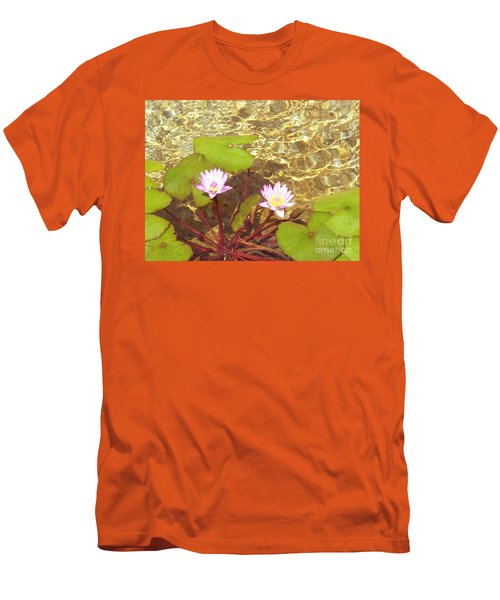 Men's T-Shirt (Slim Fit) featuring the photograph Lotus by Mini Arora