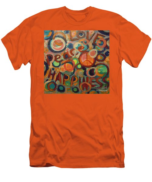 Love Peace Happiness Men's T-Shirt (Athletic Fit)