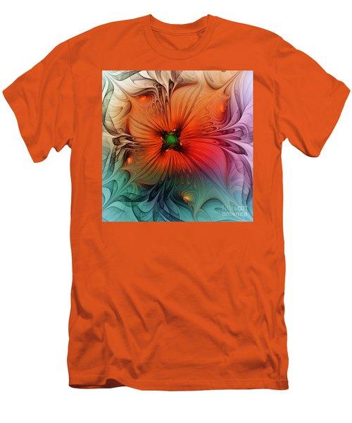 Luxury Blossom Dressed In Velvet And Silk Men's T-Shirt (Athletic Fit)
