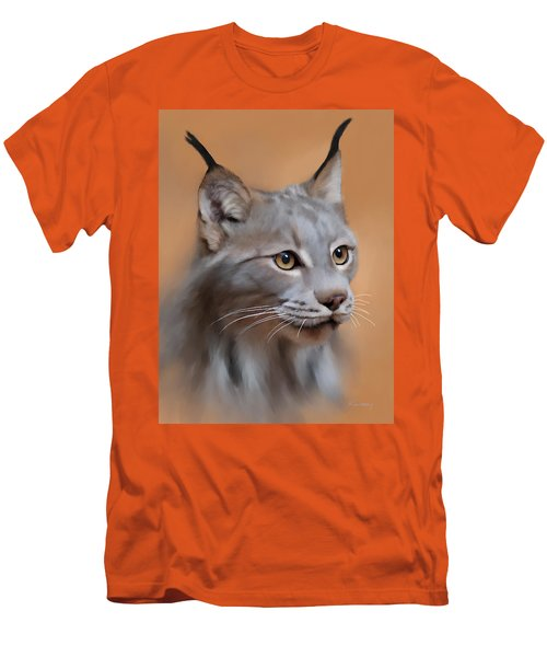 Lynx Portrait Men's T-Shirt (Athletic Fit)