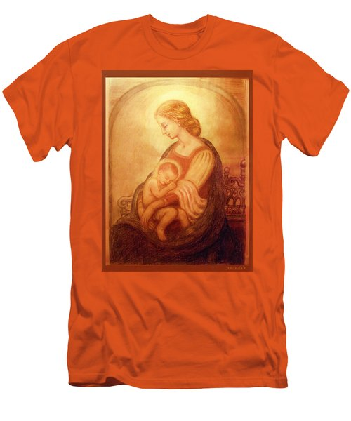 Madonna With The Sleeping Child Men's T-Shirt (Slim Fit) by Ananda Vdovic