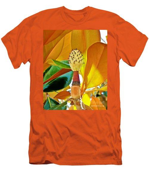 Men's T-Shirt (Slim Fit) featuring the photograph Magnolia Flower by Olga Hamilton