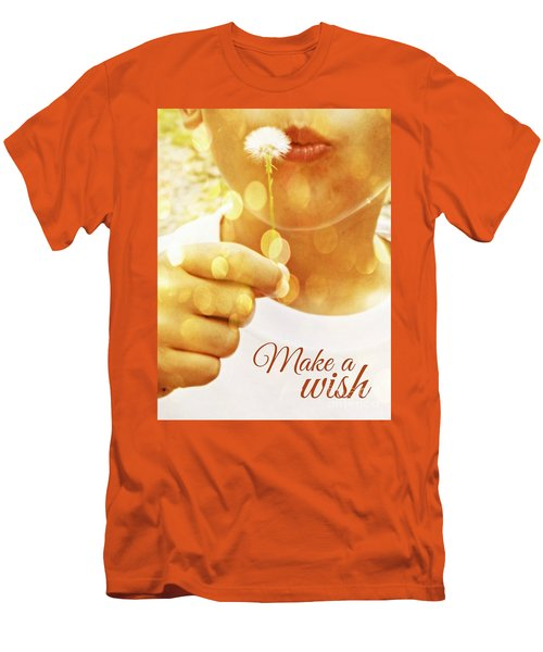 Make A Wish Men's T-Shirt (Slim Fit) by Valerie Reeves