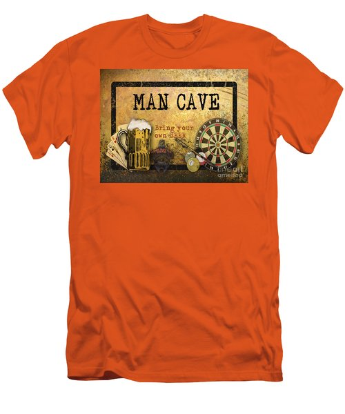 Man Cave-bring Your Own Beer Men's T-Shirt (Slim Fit) by Jean Plout