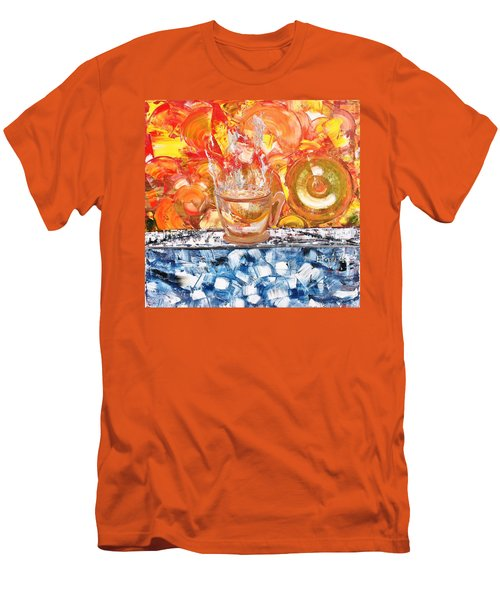 Men's T-Shirt (Slim Fit) featuring the painting Matinal by Evelina Popilian