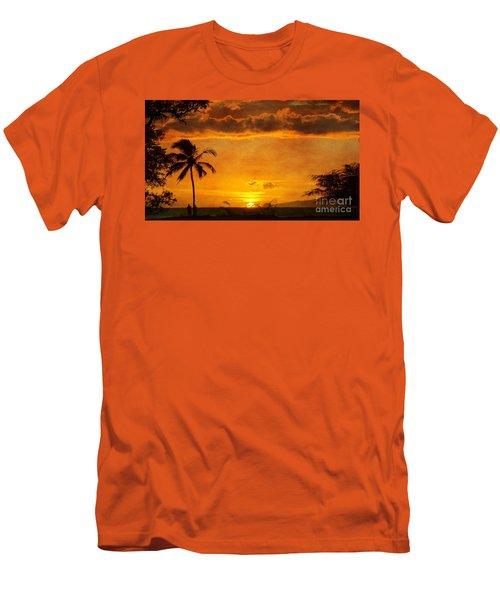 Maui Sunset Dream Men's T-Shirt (Slim Fit) by Peggy Hughes