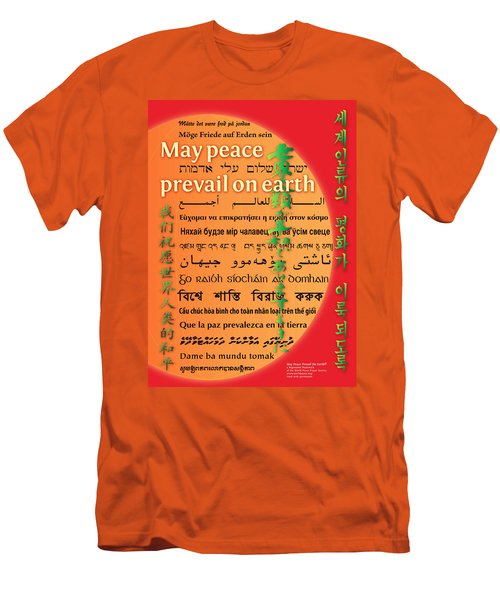 May Peace Prevail On Earth Men's T-Shirt (Athletic Fit)