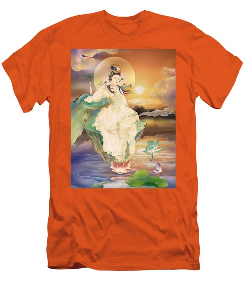 Men's T-Shirt (Slim Fit) featuring the photograph Medicine-giving Kuan Yin by Lanjee Chee