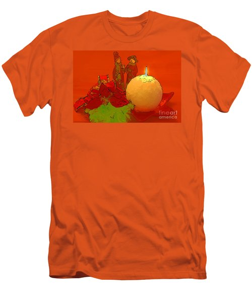 Men's T-Shirt (Slim Fit) featuring the photograph Merry Christmas by Teresa Zieba