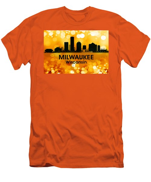 Milwaukee Wi 3 Men's T-Shirt (Slim Fit) by Angelina Vick