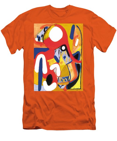 Men's T-Shirt (Slim Fit) featuring the painting Mirror Of Me 2 by Stephen Lucas