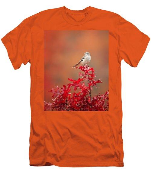 Mockingbird Autumn Men's T-Shirt (Slim Fit) by Bill Wakeley