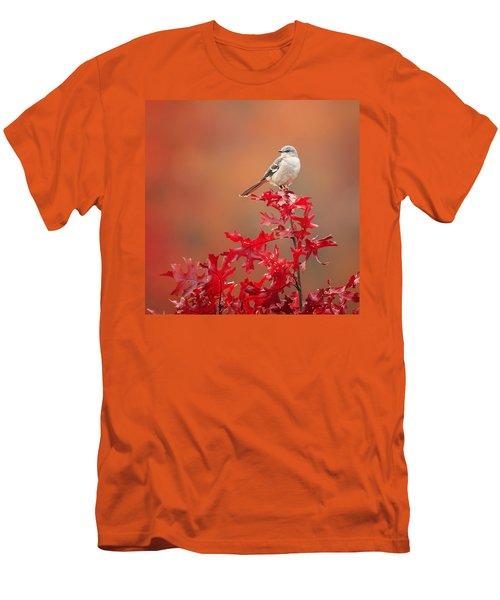 Mockingbird Autumn Square Men's T-Shirt (Slim Fit) by Bill Wakeley