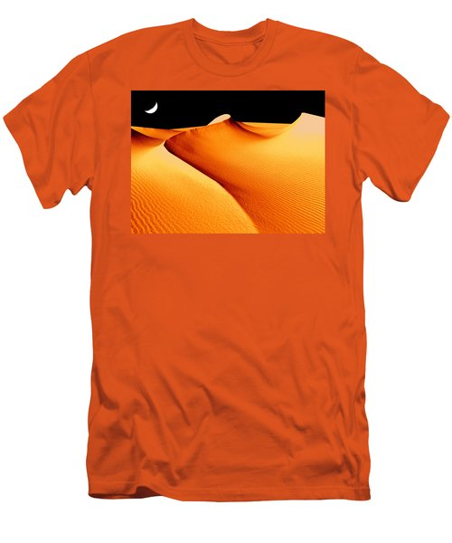 Moon Over Sand Dunes Men's T-Shirt (Athletic Fit)