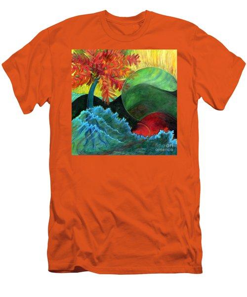 Moonstorm Men's T-Shirt (Slim Fit) by Elizabeth Fontaine-Barr