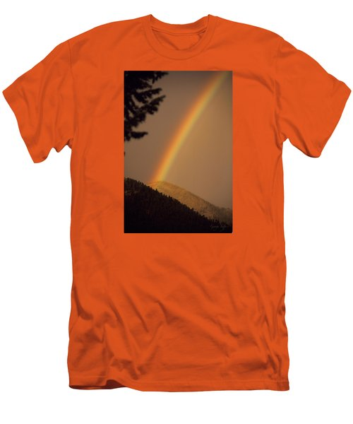 Morning Rainbow Men's T-Shirt (Athletic Fit)
