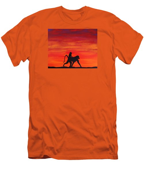 Men's T-Shirt (Slim Fit) featuring the painting Mother Africa 4 by Michael Cross