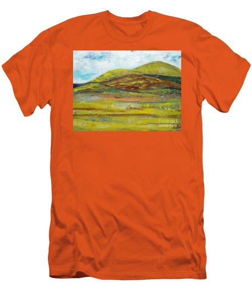 Mountains  Men's T-Shirt (Slim Fit) by Reina Resto