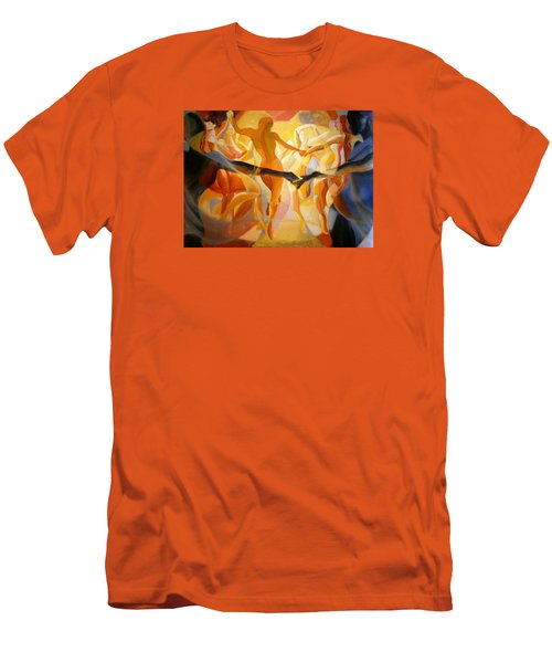 Men's T-Shirt (Slim Fit) featuring the painting Moving Nimbus by Georg Douglas