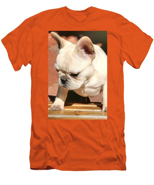 French Bulldog Ms Quiggly  Men's T-Shirt (Athletic Fit)
