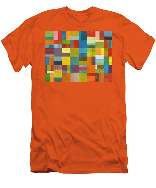 Men's T-Shirt (Slim Fit) featuring the painting Multiple Exposures Lll by Michelle Calkins