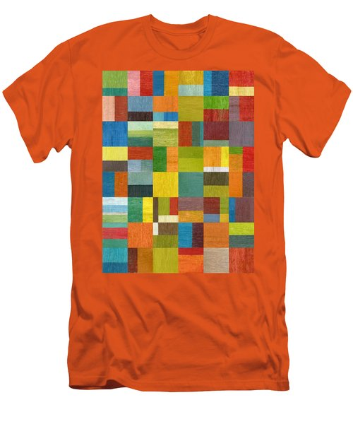 Men's T-Shirt (Slim Fit) featuring the painting Multiple Exposures Lv by Michelle Calkins