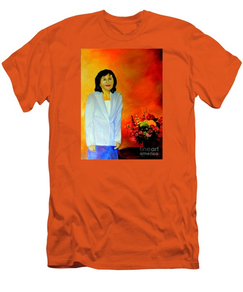 Men's T-Shirt (Slim Fit) featuring the painting My Wife by Jason Sentuf