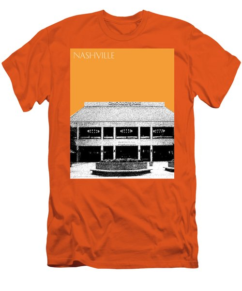 Nashville Skyline Grand Ole Opry - Orange Men's T-Shirt (Athletic Fit)