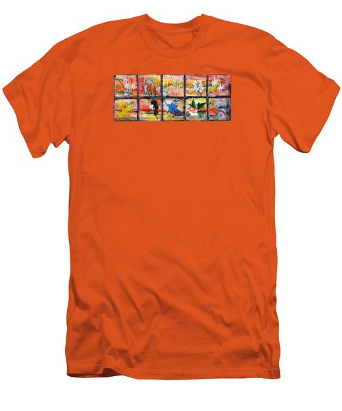native Texas wildflowers B Men's T-Shirt (Athletic Fit)