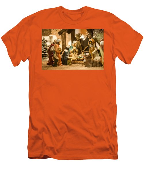 Men's T-Shirt (Slim Fit) featuring the photograph Nativity Set by Alex Grichenko